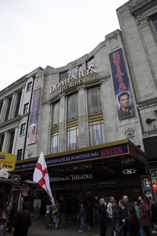 The Dominion Theatre on Tottenham Court Road