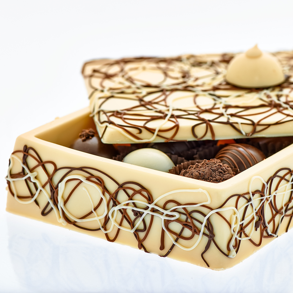 White Chocolate Box Closeup