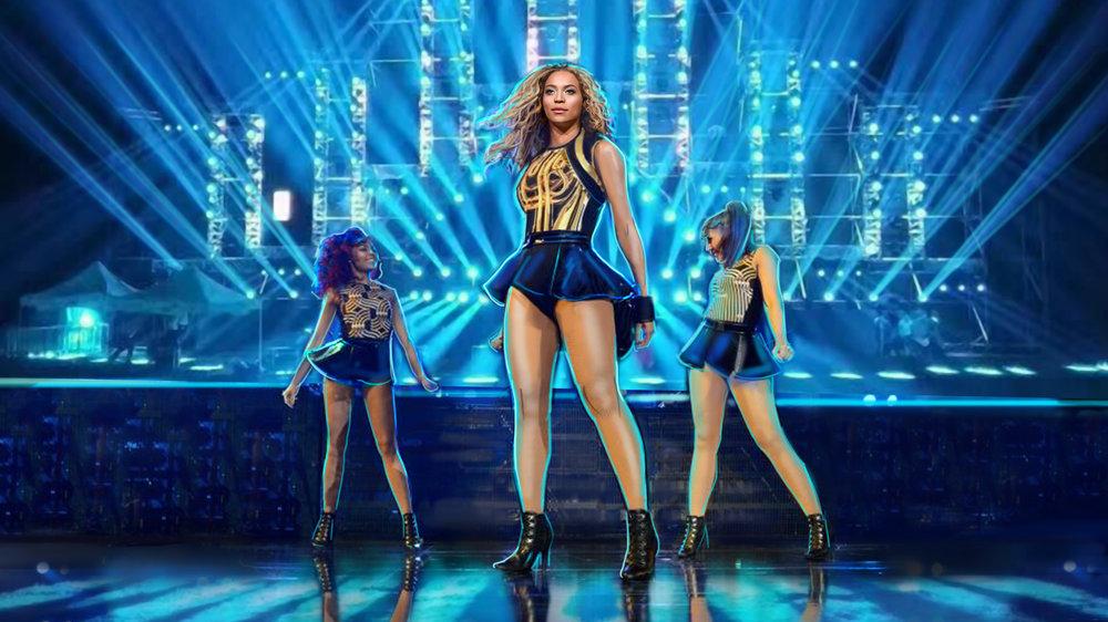 Beyonce Concert Design