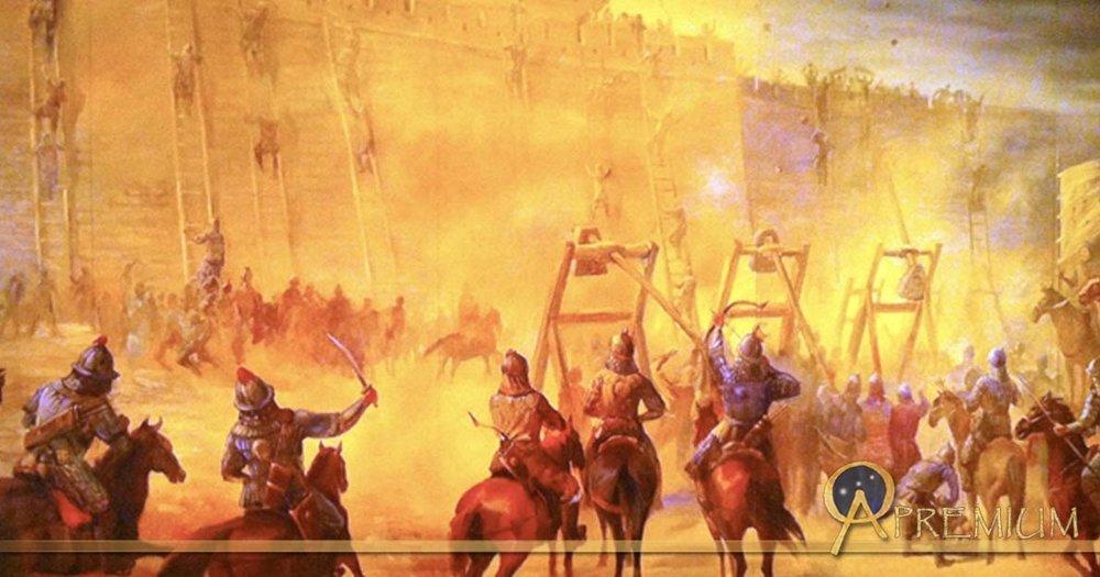 Mongol hordes sacking Baghdad