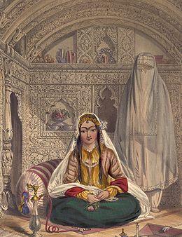 Abbasid high born Islamic woman