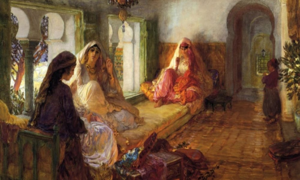 High born ladies relaxing Abbasid period