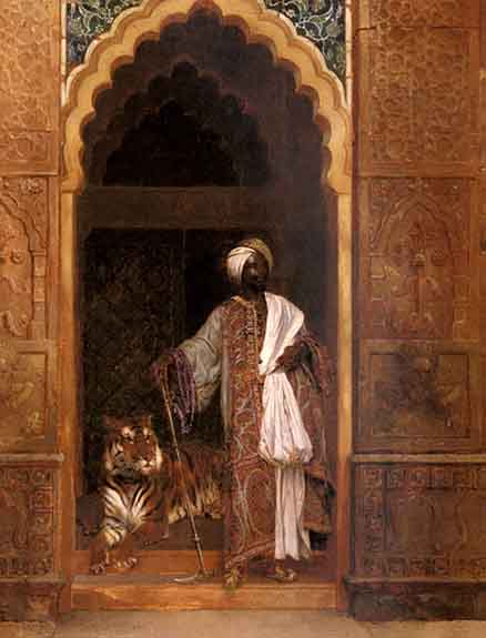 Sultan or Caliph with tiger