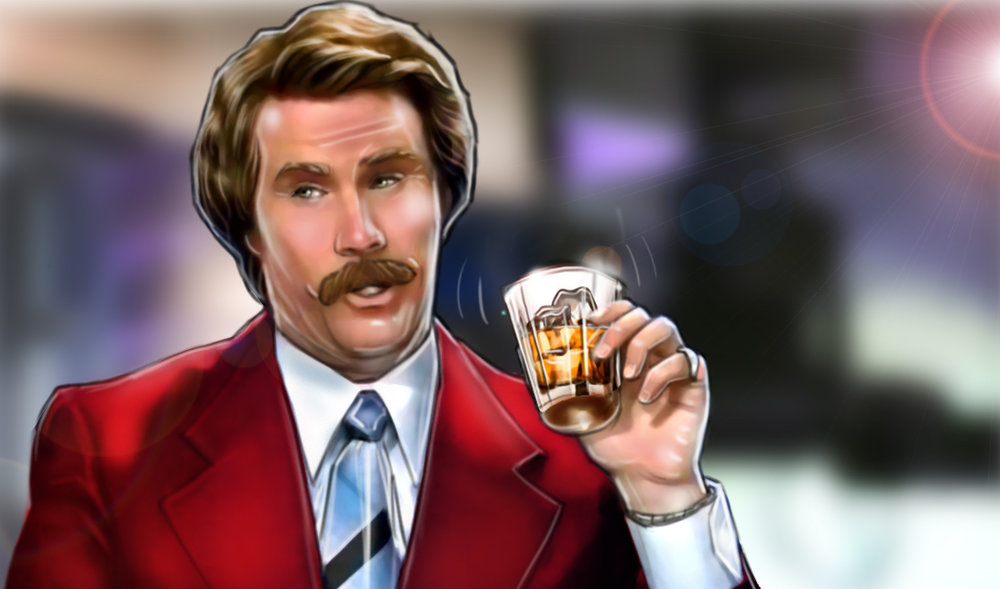 "Ron Burgundy Odin Scotch ""Stay Classy America"""