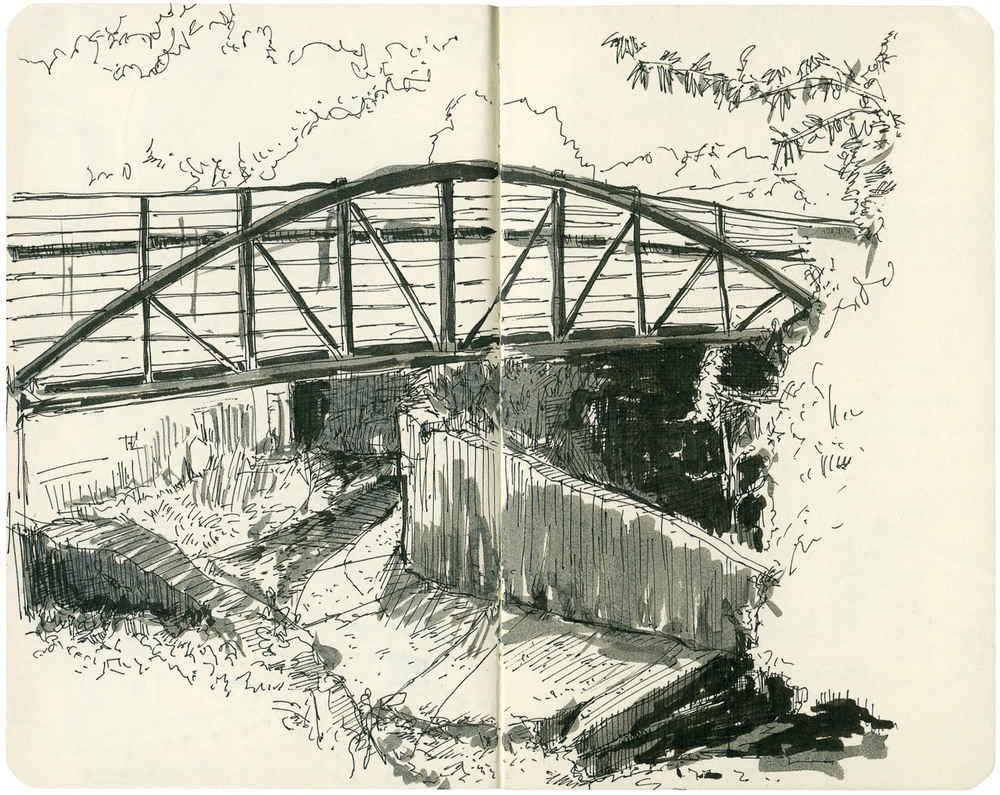 Sketchbook: Trail Bridge