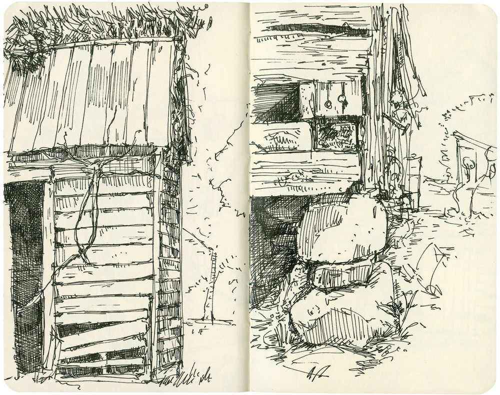 Sketchbook: Barn Corners