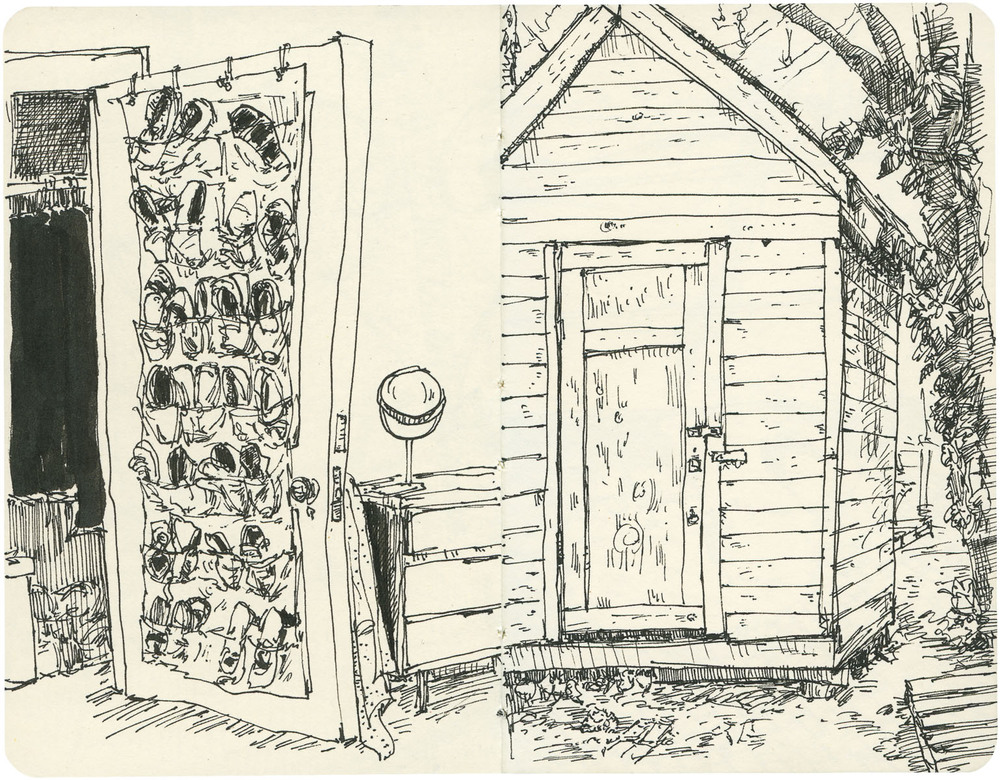 Sketchbook: Closet Door/Shed