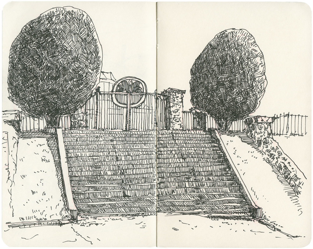 Sketchbook: Piedmont Park Steps