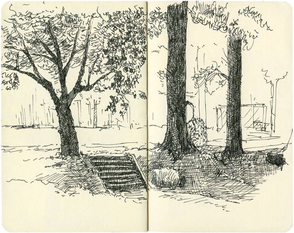 Sketchbook: Park Steps