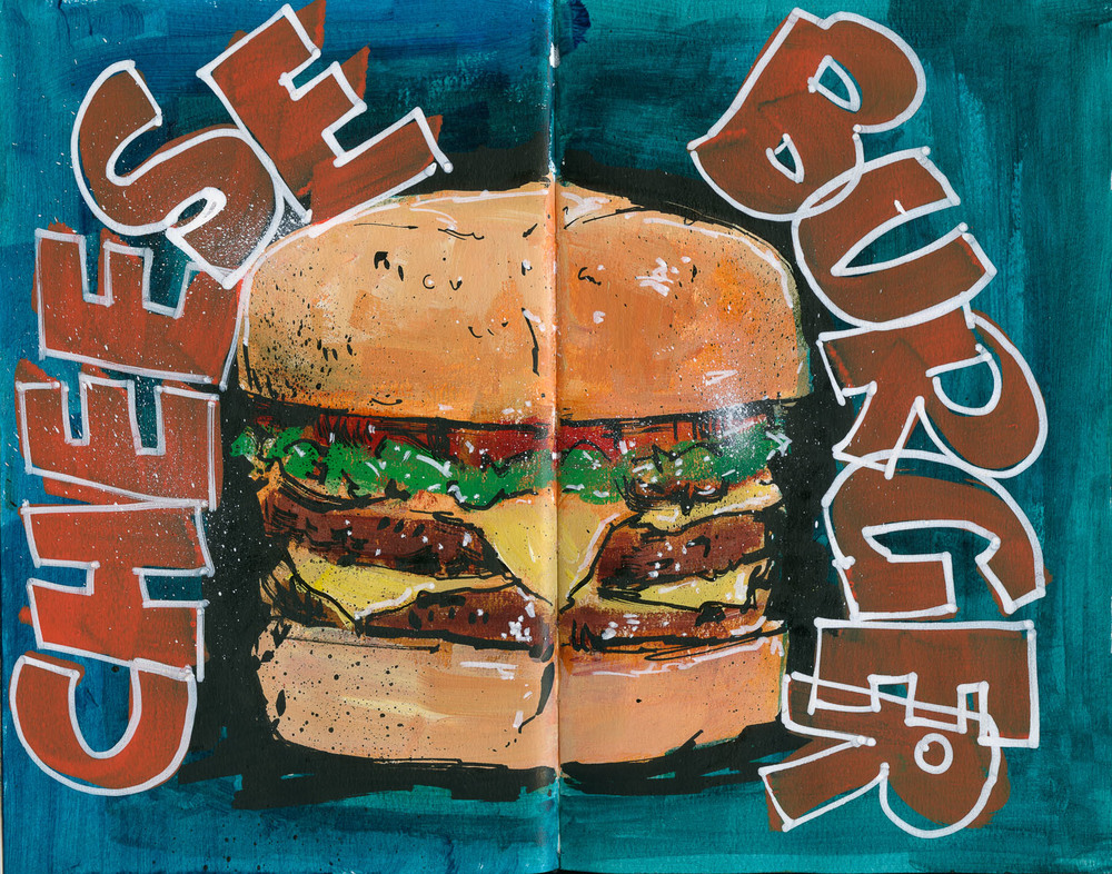 Cannon Pearson–Sketchbook: Cheeseburger