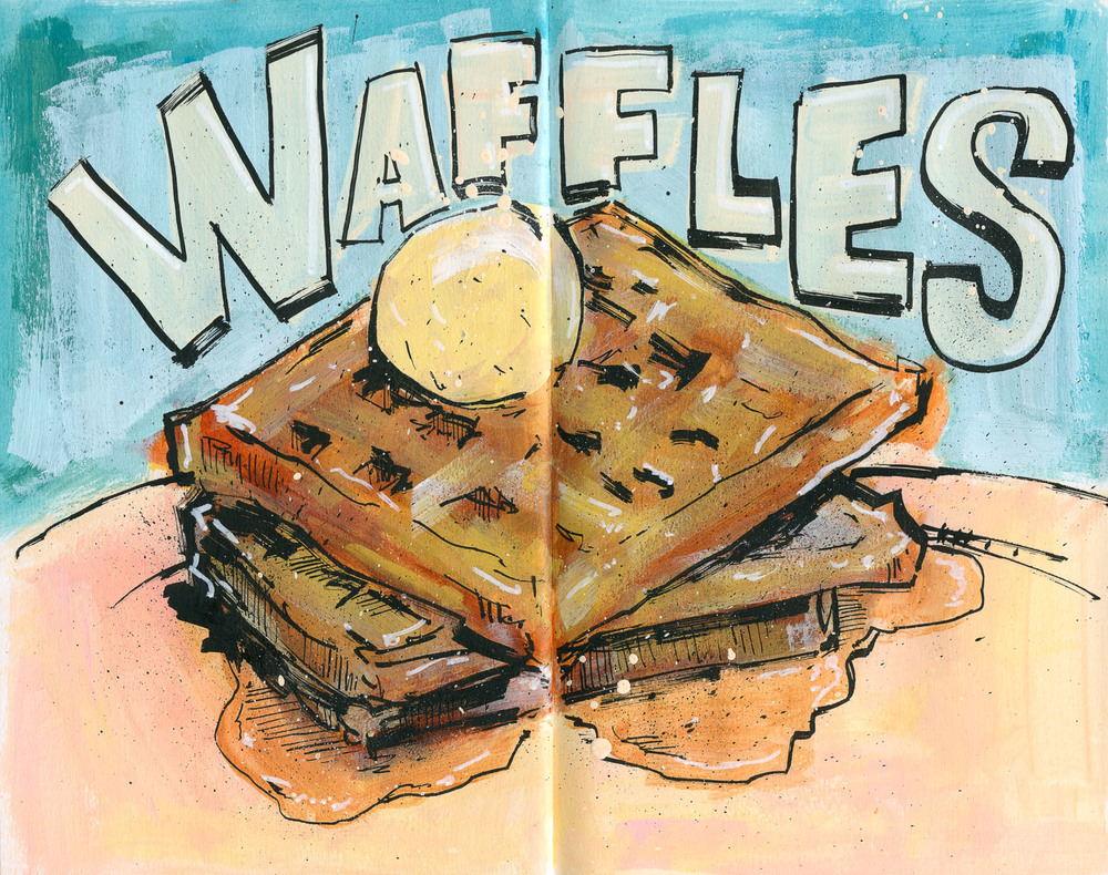 Cannon Pearson–Sketchbook: Waffles