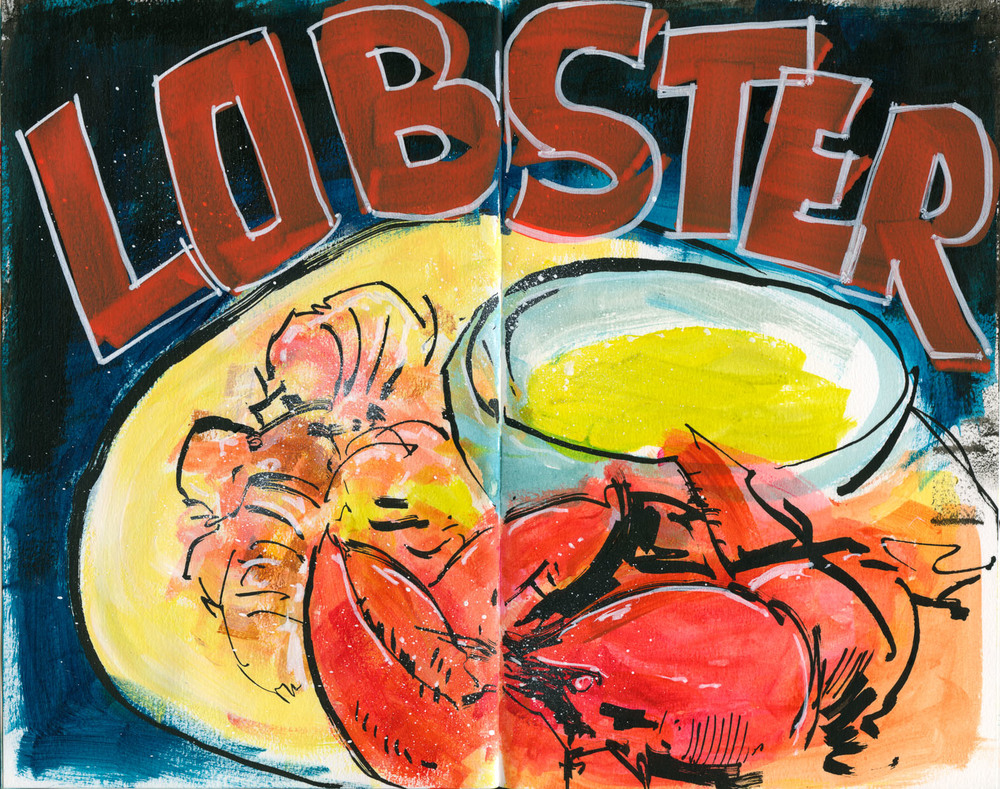 Cannon Pearson–Sketchbook: Lobster