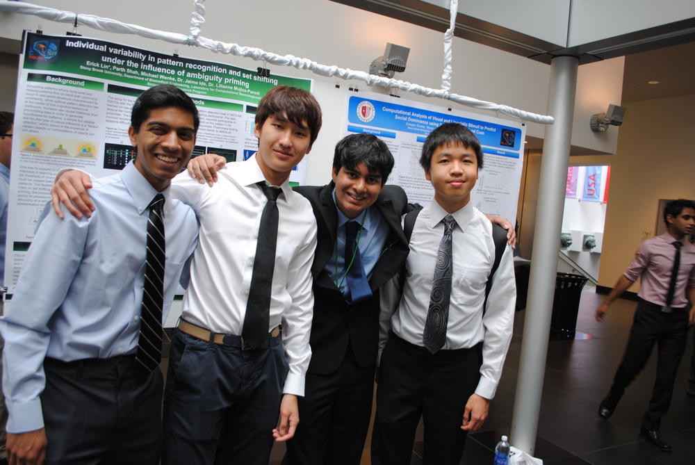 LCNeuro Simons Scholars Parth Shah, Jason Lee, Sreejan Kumar, Erick Lin