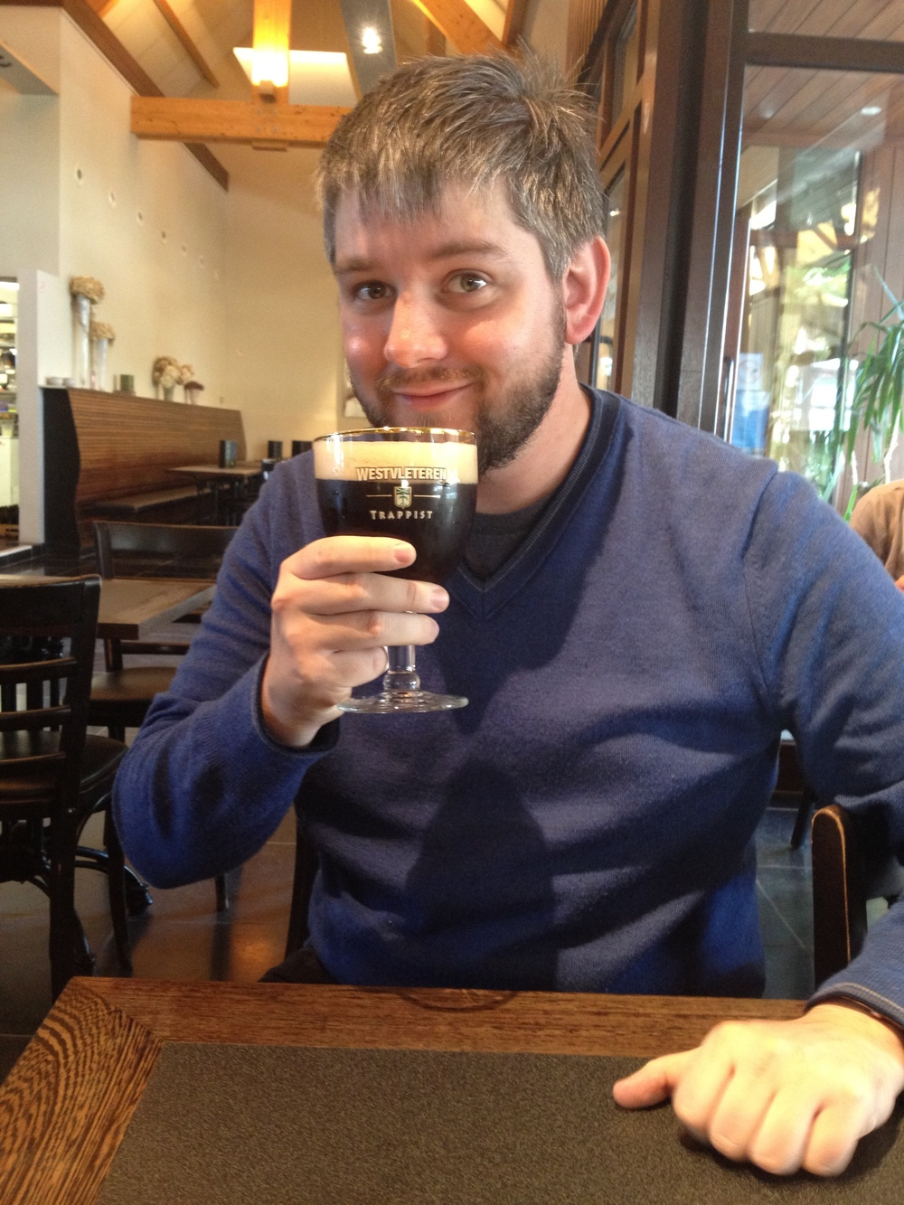 Paul Deines drinking Westvleteren 12, September 2012