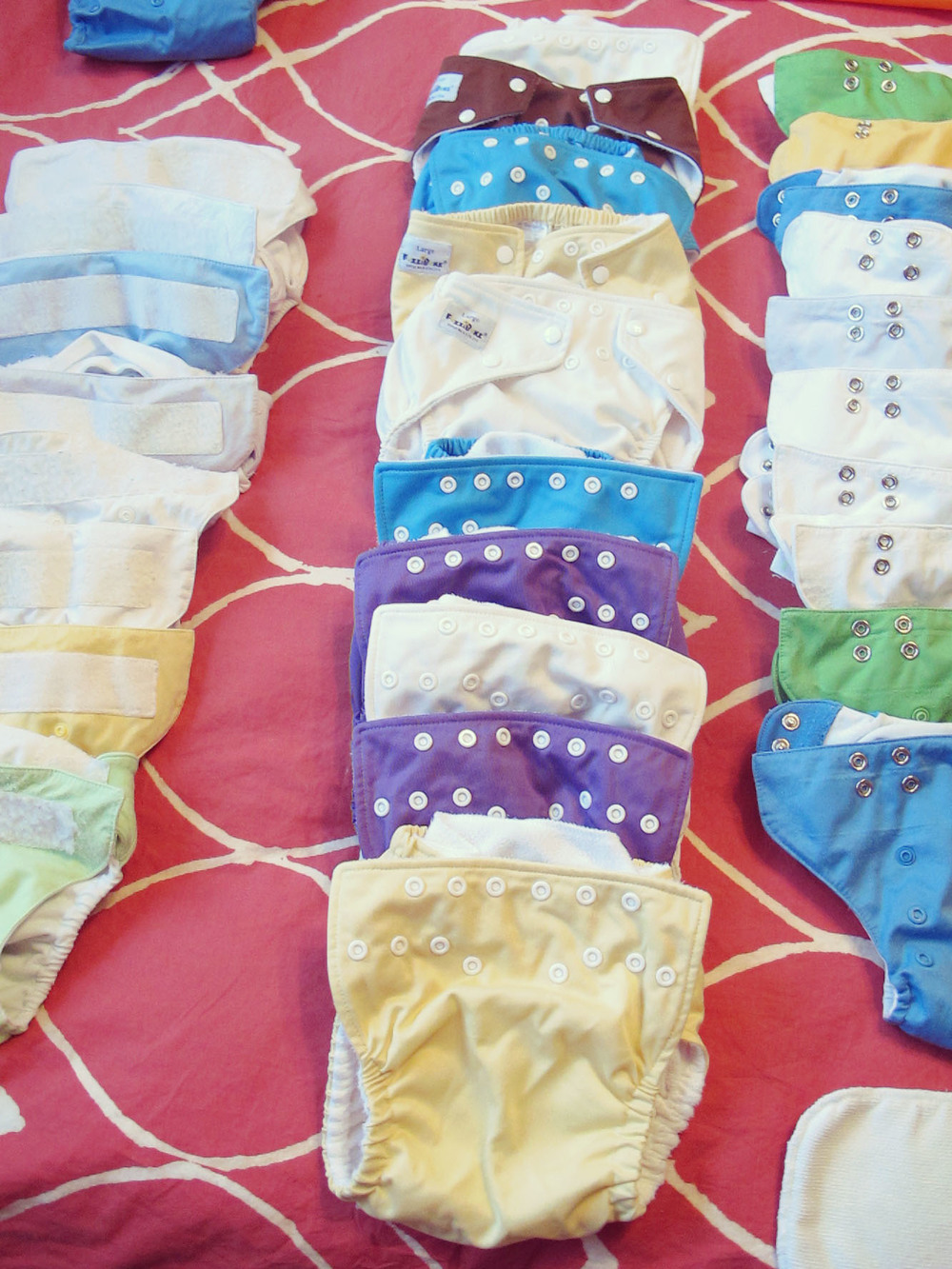 Fuzzibunz snap diapers. The way diapers should be.