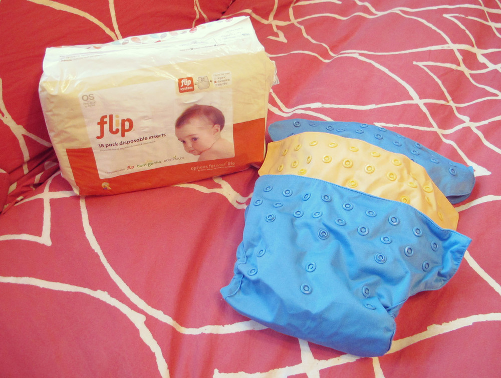 The Flip with a package of disposable liners