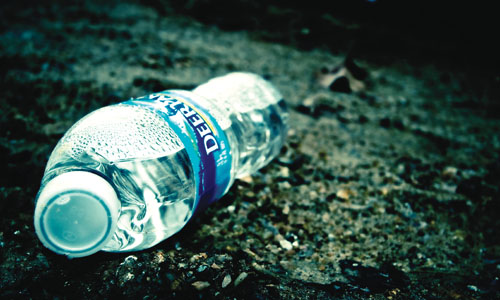 Click the image for more info on bottled water waste