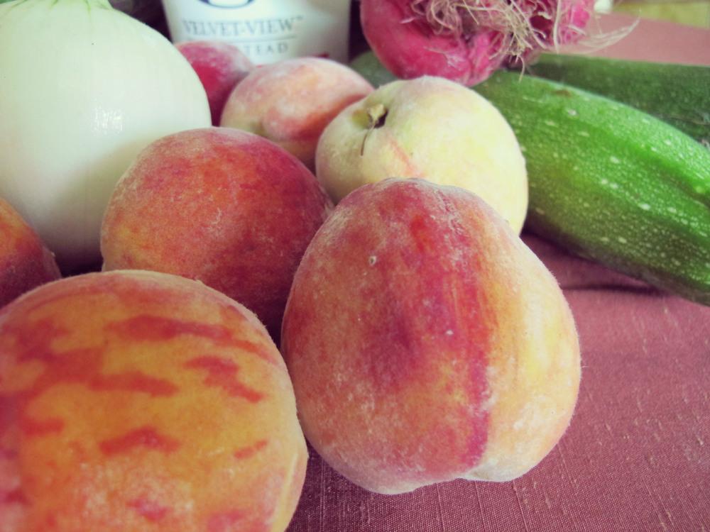 Cling peaches