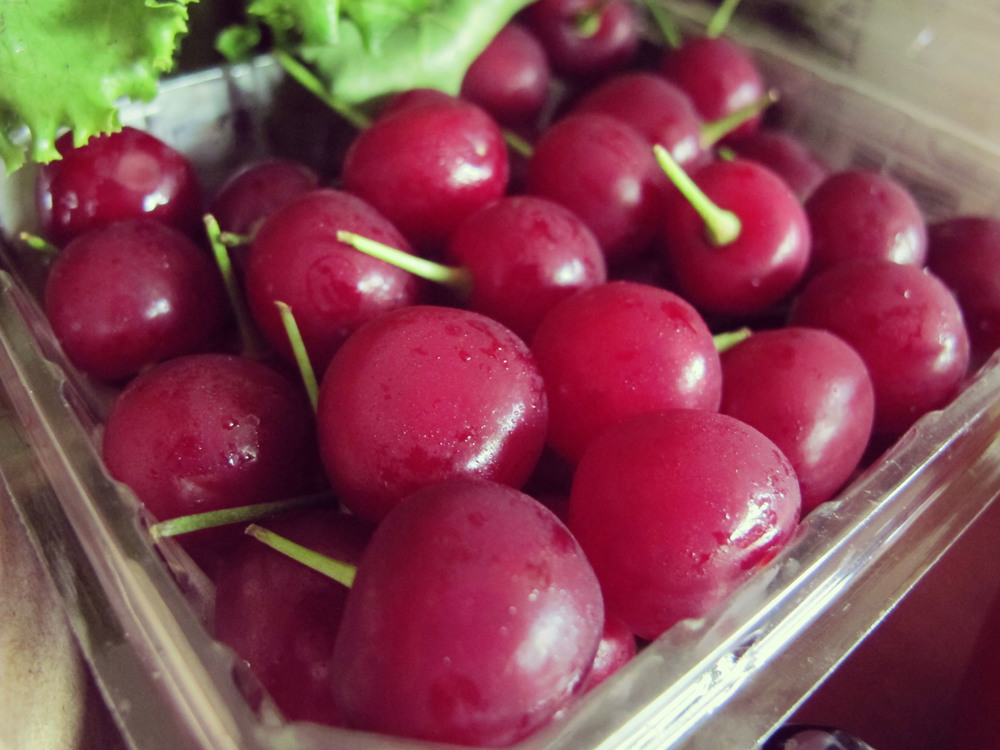 Condensation on the cherries
