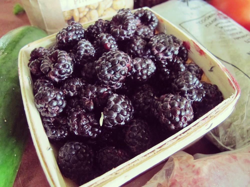 Black raspberries, Mercer's favorite