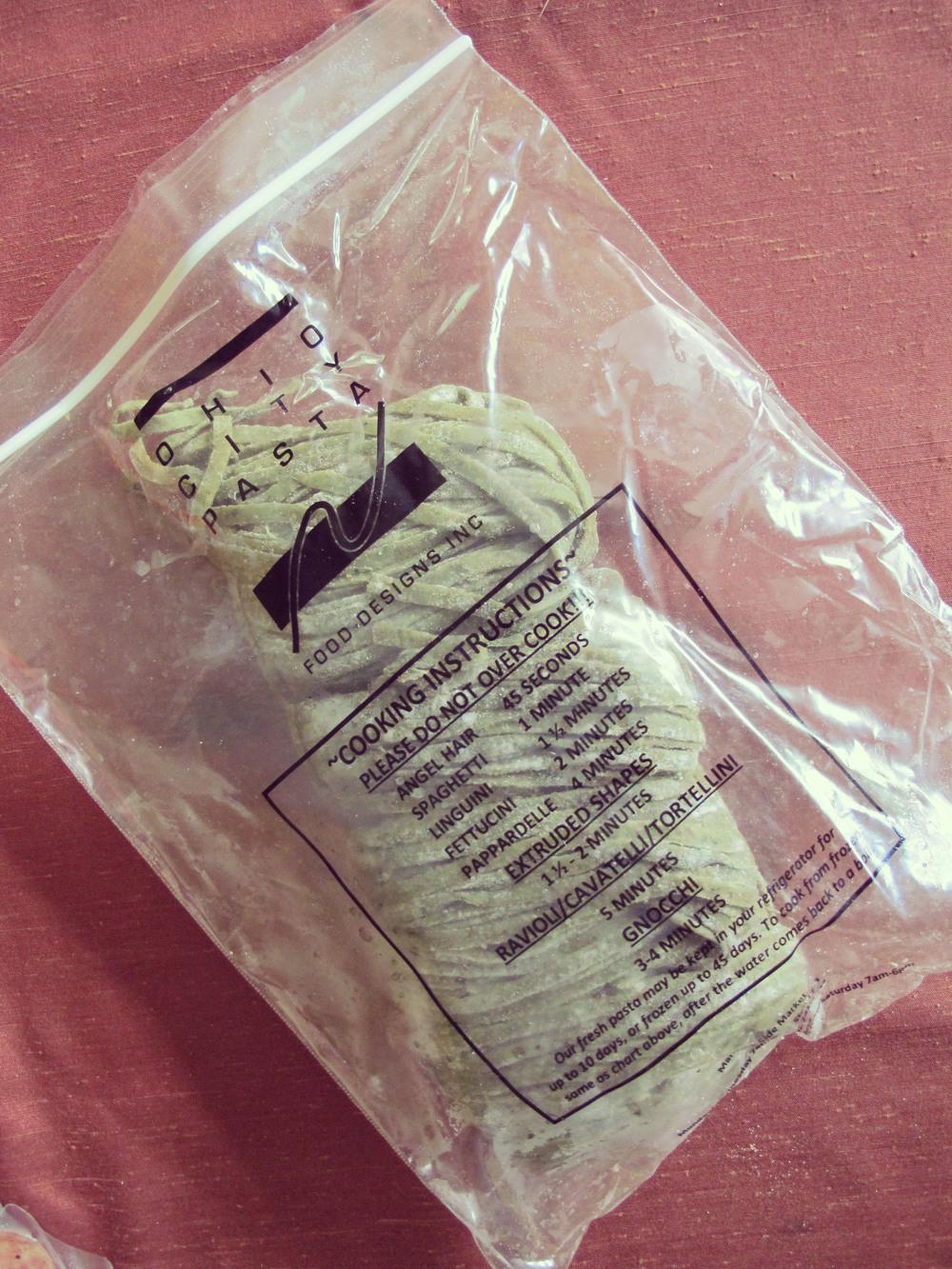 A bundle of sweat pea Ohio City Pasta