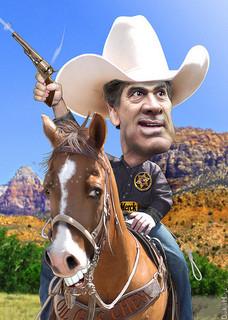 Cowboy Governor Rick Perryby DonkeyHotey
