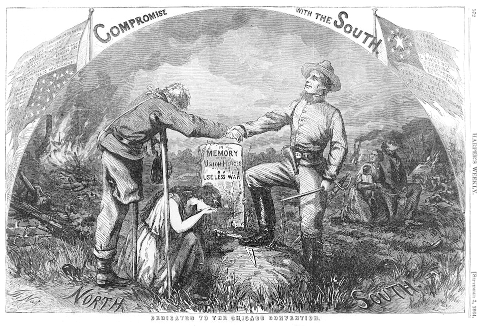 Compromise with the South - Dedicated to the Chicago Convention by Thomas Nast published 1864 - PD Source: Library of Congress