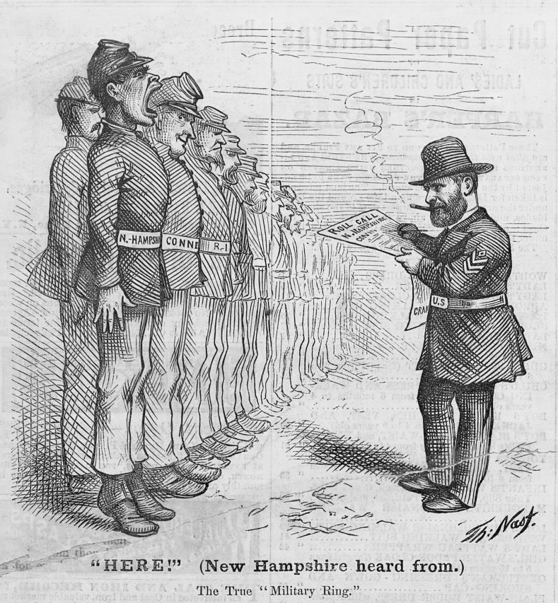 Here! by Thomas Nast. Published 1872 - PD Source: Library of Congress