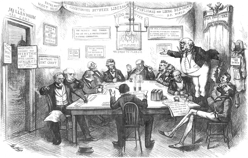 The Cincinnati Convention, In A Pickwick Sense by Thomas Nast. Published 1872 - PD Source: Wikimedia Commons