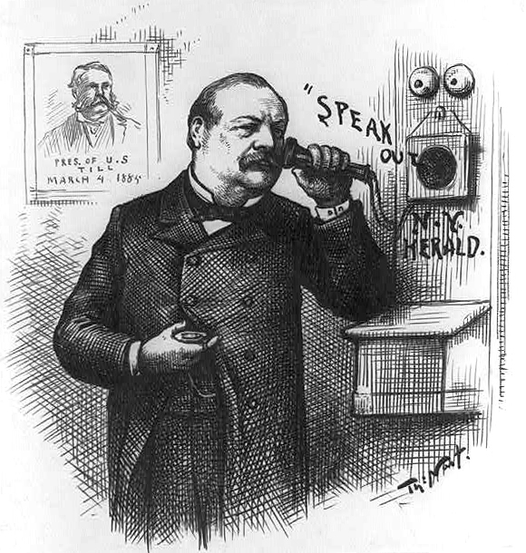 """Speak out"" N.Y. Herald by Thomas Nast. Published 1885 - PD Source: Library of Congress"