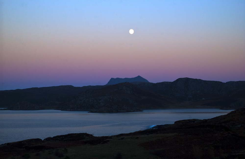 Moonlight on Gruinard Bay