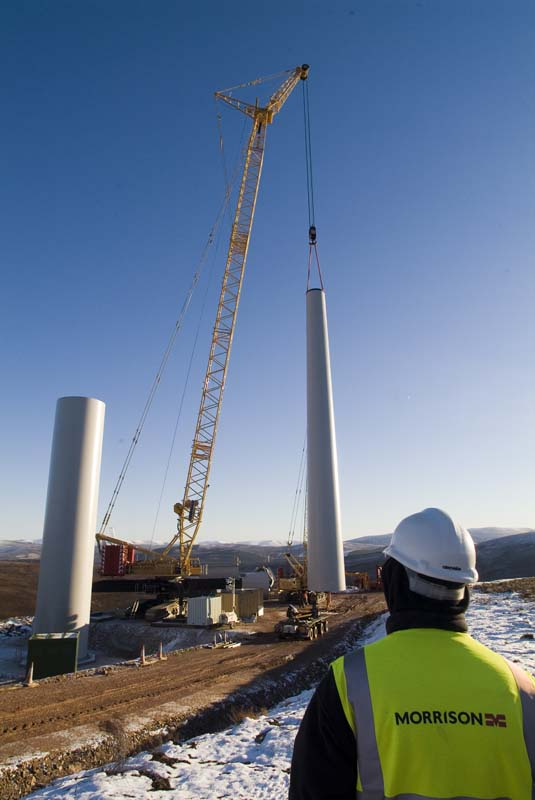 Windfarm Construction Cairngorms for Morrison Construction