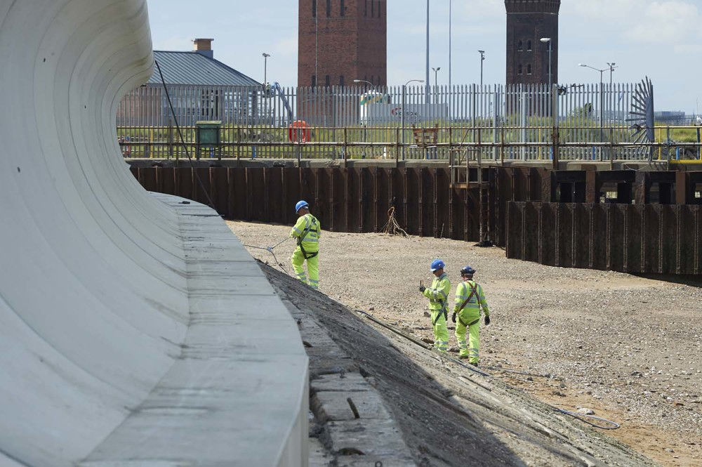 Coastal Defence works Grimsby for Balvac
