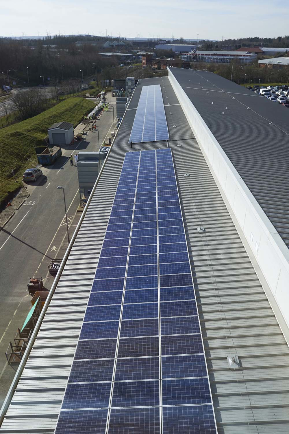 Solar PV installation Scotland for Kingspan