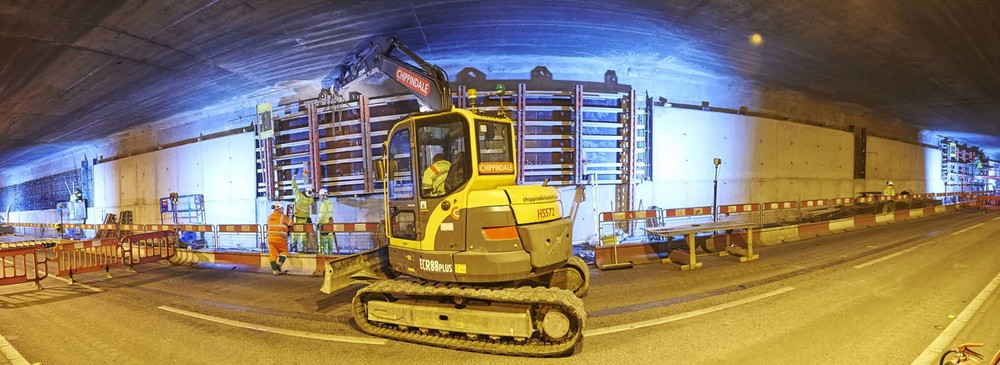 Tunnel refurbishment Leeds for Volker Laser