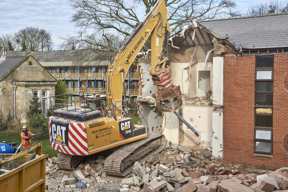 Demolition Cambridge for Mick George Ltd