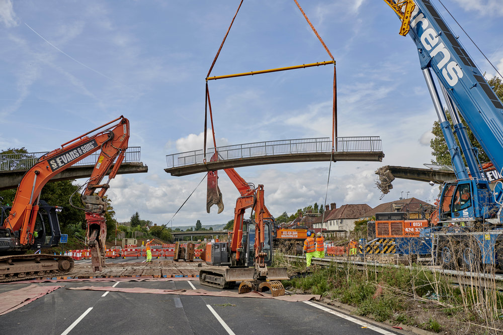 Bridge Demolition M20 Kent for Kier/Highways England