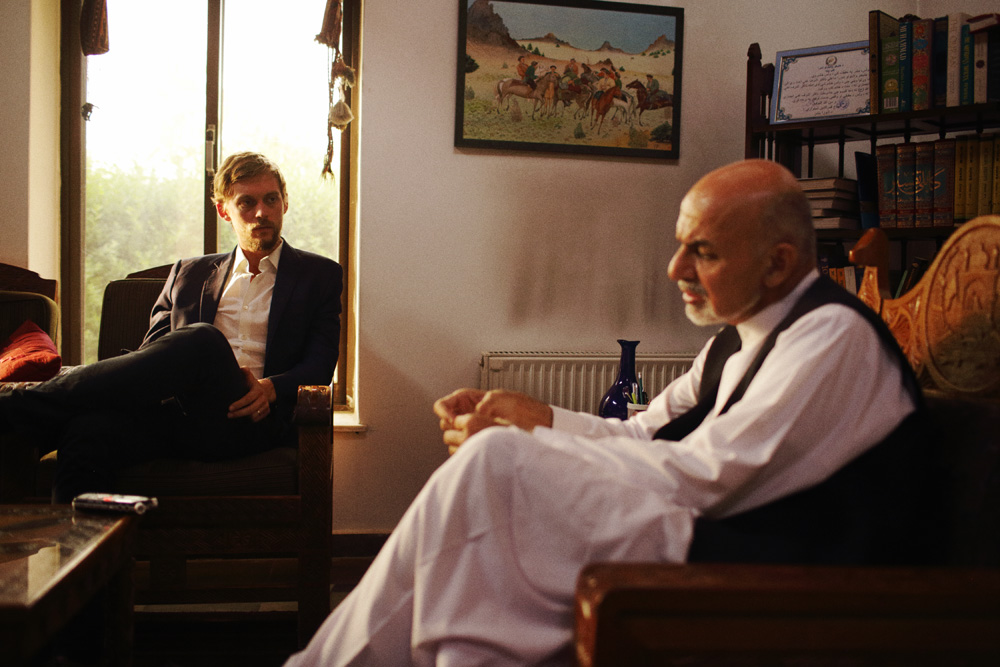 Interviewing Ashraf Ghani, the president of Afghanistan, in 2014.