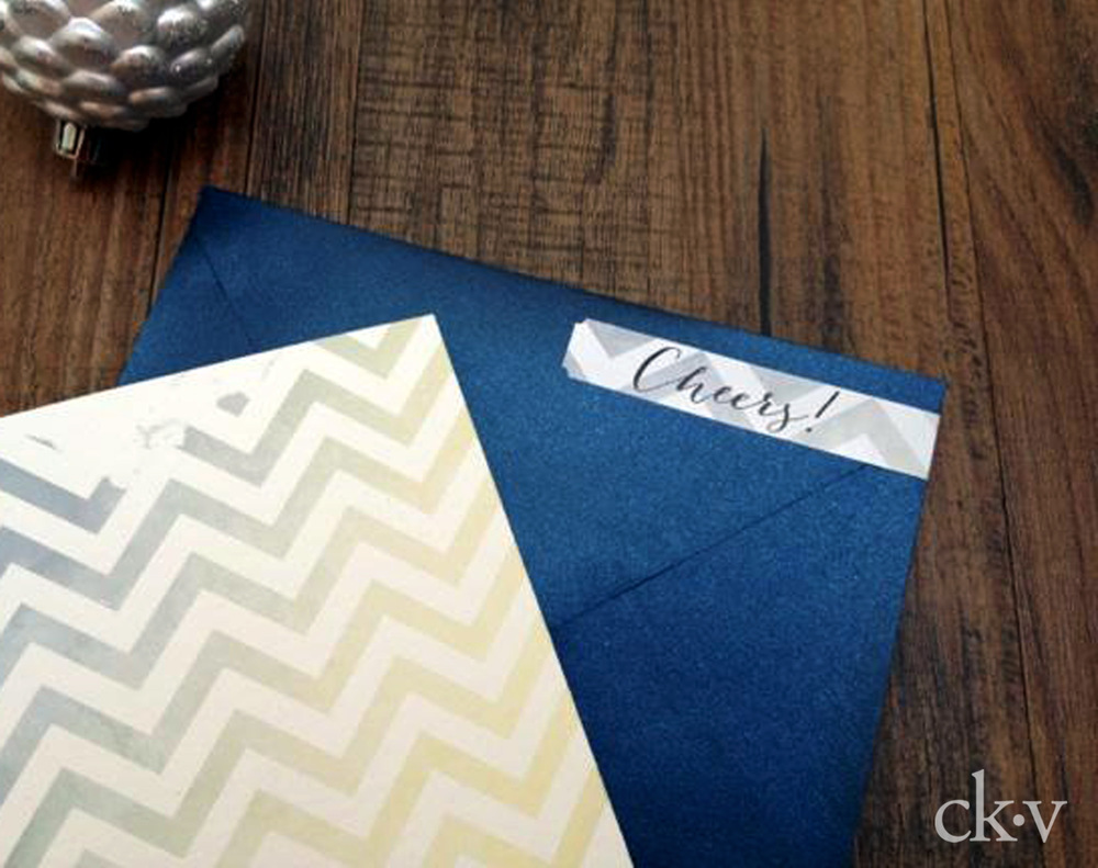 chevron greeting card