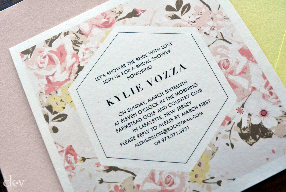 floral invitations for a modern bride the asylum