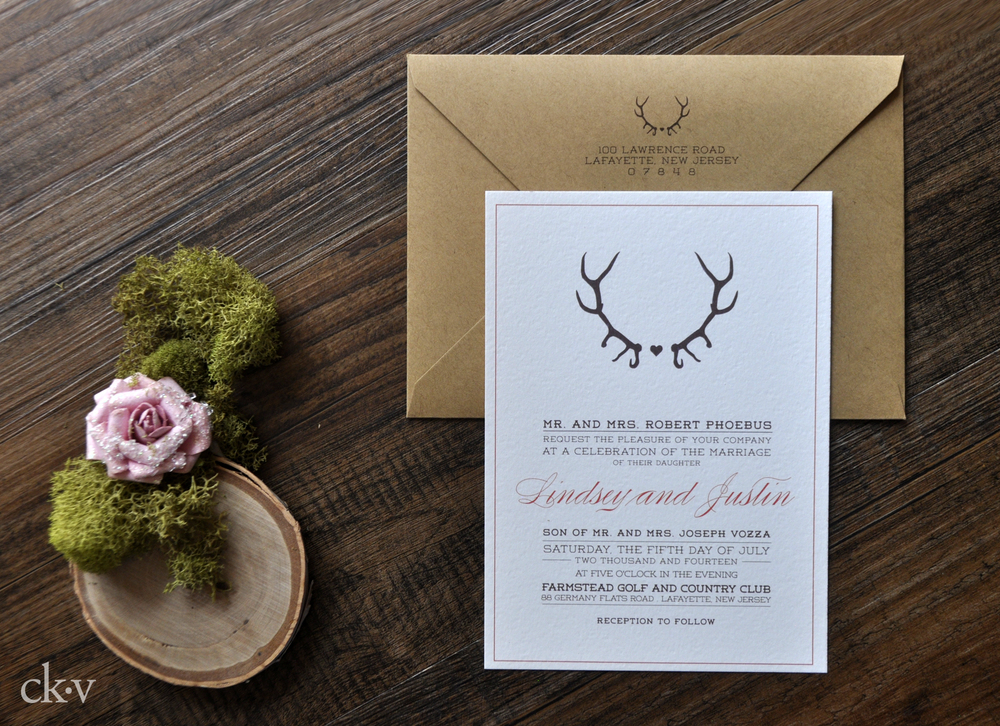 Antlers Lace Awesome Wedding Invitations The Asylum