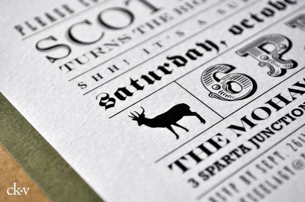 guys 50th birthday deer hunting invitation