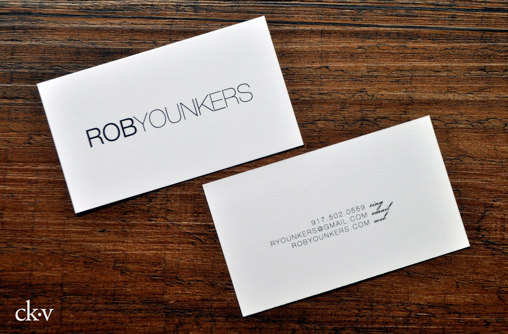 sleek minimal black and white business cards