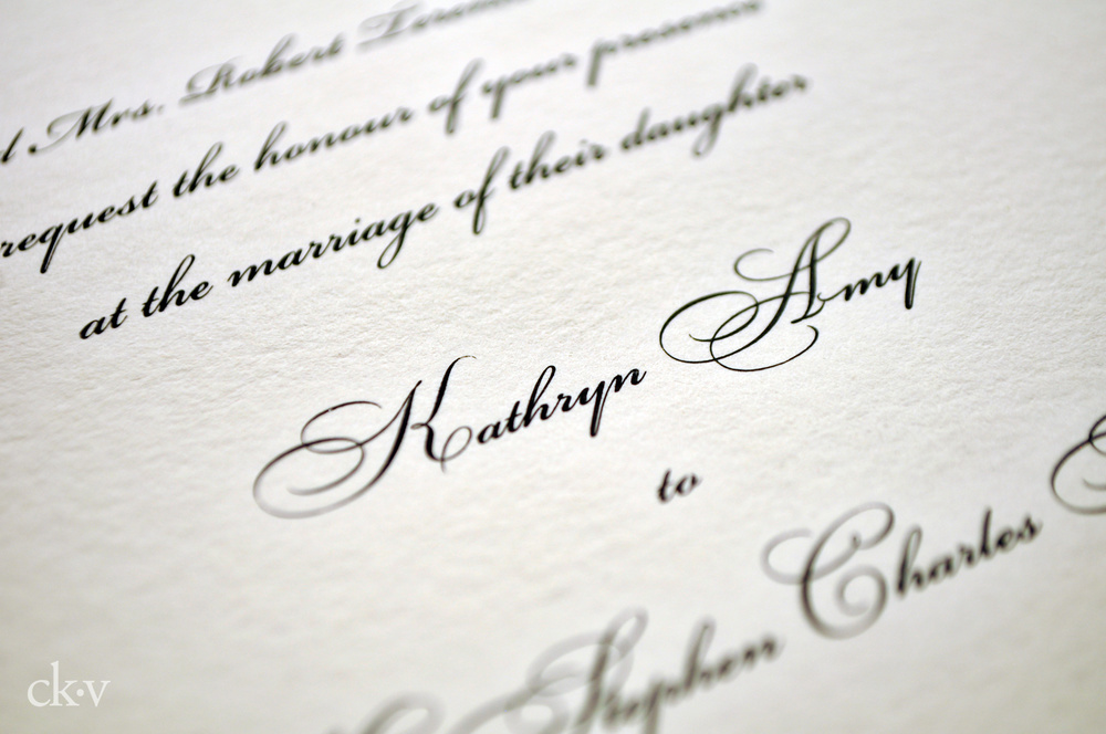The Asylum – Traditional Engraved Wedding Invitations