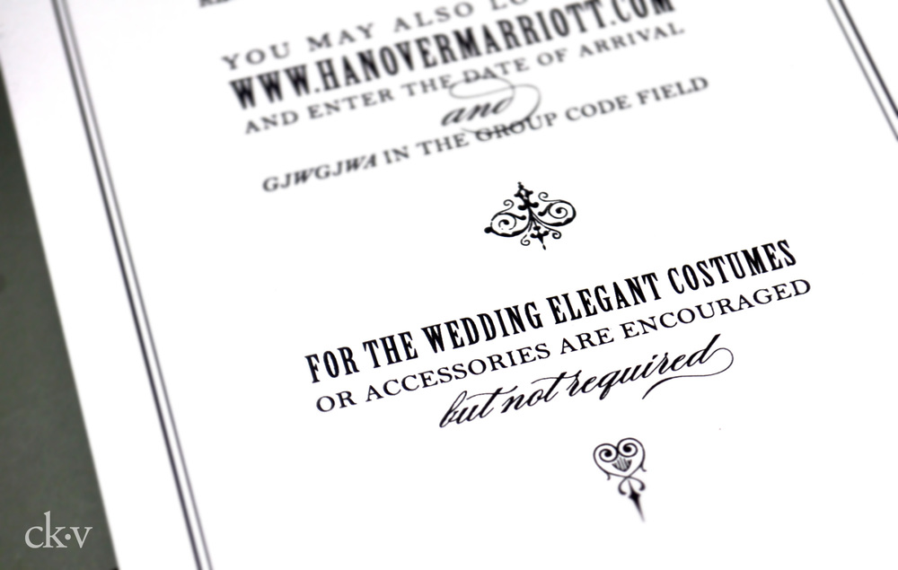 gothic halloween wedding invitations costume wording