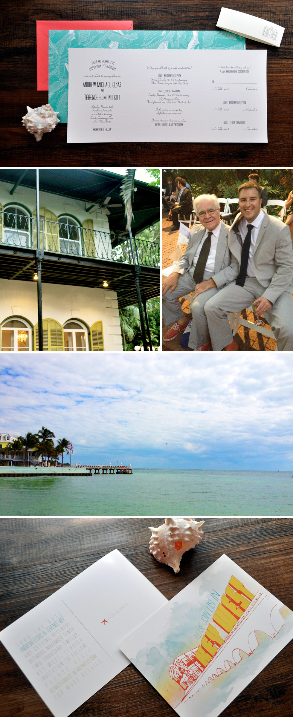 Key West Same Sex Hemmingway House Wedding Inviation Suite
