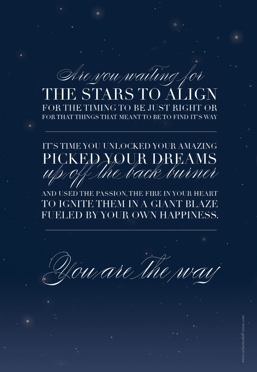 inspirational quote about stars, passion and happiness New year quote