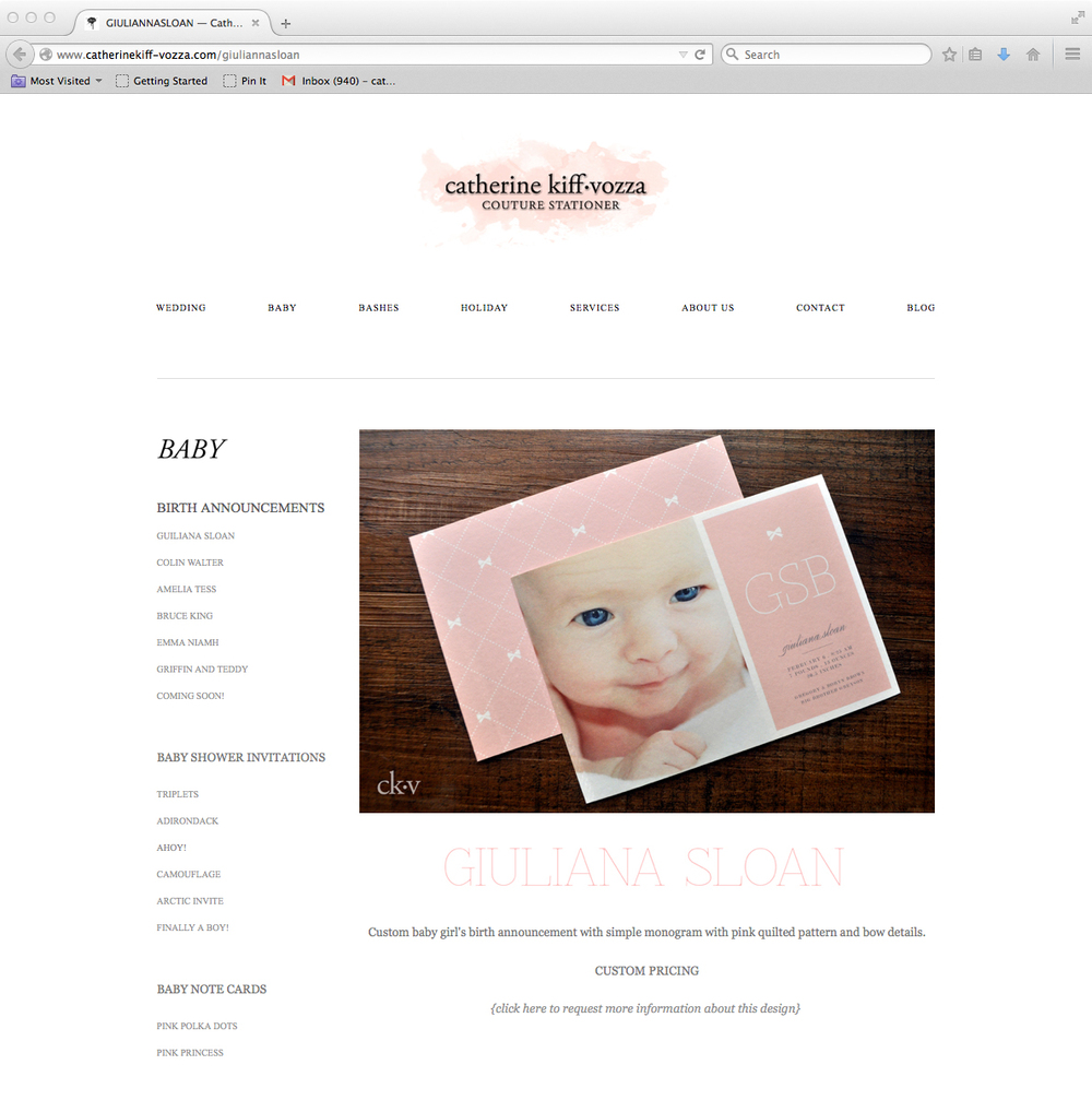 beautiful baby's birth announcements and baby shower invitations