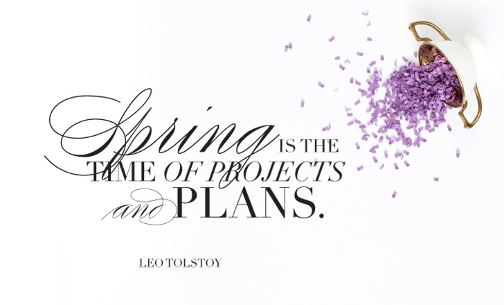 Spring planning quote