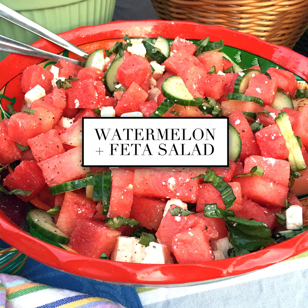 Easy Watermelon and feta salad